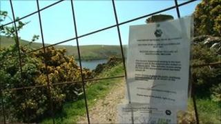 Close-off path at Meldon Reservoir