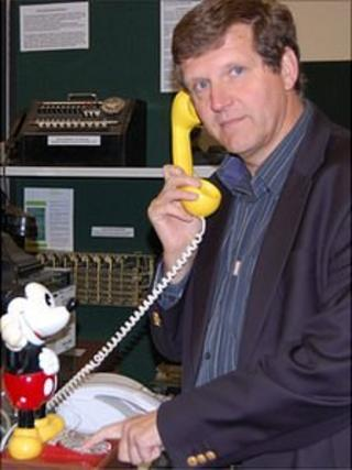 Dr Jason Monaghan at Guernsey Telephone Museum