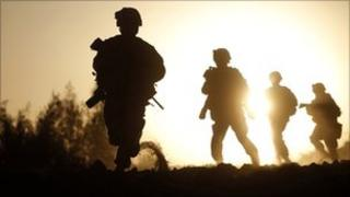 Soldiers on duty in Afghanistan