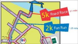 Middlesbrough 2k and 5k routes