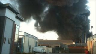 The fire at Todd Waste Management in Thirsk