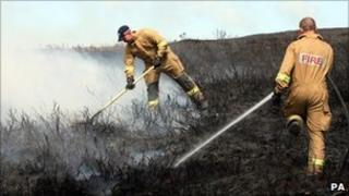 Firefighters near Ballypatrick Forest
