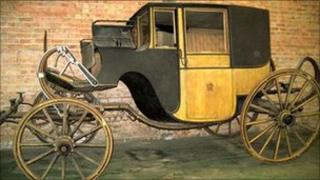 Horse-drawn coach owned by the former Oxfordshire MP Joseph Warner Henley
