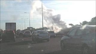 Fire on M5