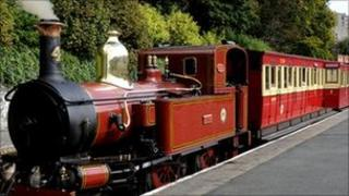 Isle of Man train