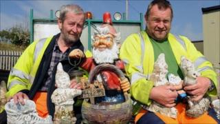 The gnomes removed from the roundabout