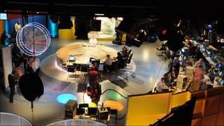BBC Scotland's election studio