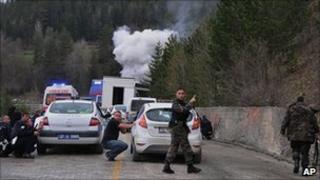 Attack on police vehicle in Kastamonu. 4 May 2011