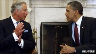 Prince Charles and Barack Obama in the Oval Office