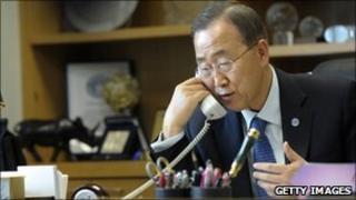 Ban Ki-moon in phone call with Syrian President Bashar al-Assad, 4 May 2011