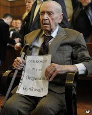 Sandor Kepiro in court in Budapest, 5/5/11