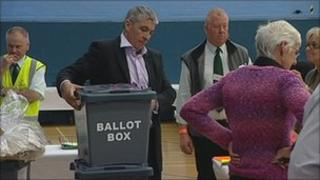 Vote counting in Derby