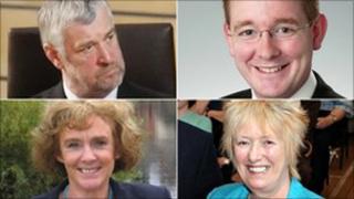 Alex Fergusson, John Lamont, Elaine Murray and Christine Grahame