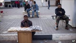 Street vendor in Benghazi, Libya, on 5/5/11