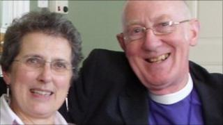 The Right Reverend Michael Scott-Joynt and his wife Lou