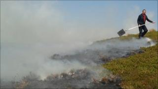 The fire in the Brecon Beacons National Park