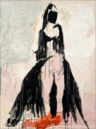 Tracey Emin's Black Cat Tapestry woven by West Dean Tapestry Studio
