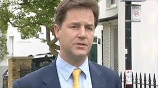Nick Clegg after the local elections 2011