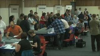 Votes being counted in Reading