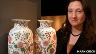 Dr Francesca Vanke with vases