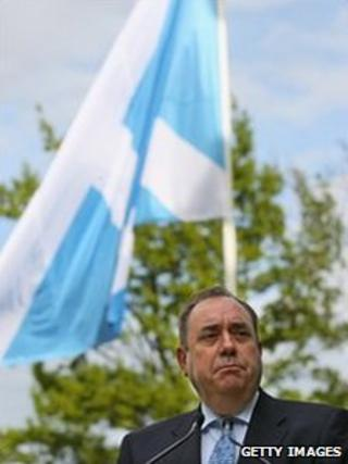 Alex Salmond, speaking after all the results were declared