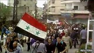 Anti-government protests in Homs, Syria (6 May 2011)