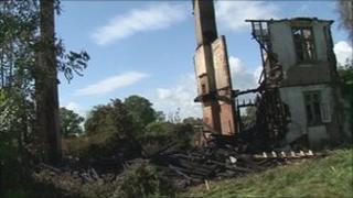 Destroyed house in Frittenden, near Ashford