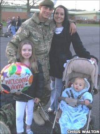 L/Cpl Bob Busby and family