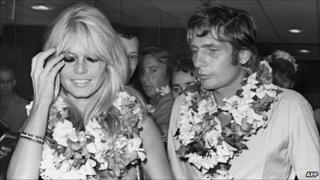 Brigitte Bardot and Gunter Sachs in Tahiti (June 1966)