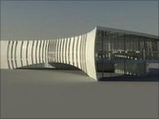 Artist's impression of the new library