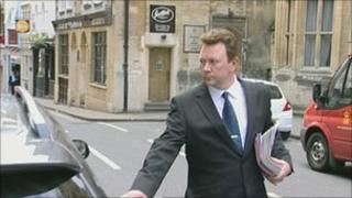 Mark Bruton-Young leaving Bristol Crown Court