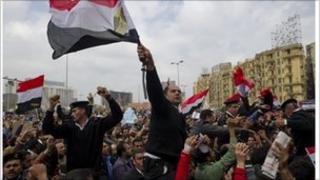 A demonstration at Cairo's Tahrir Square in Egypt