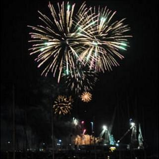 Fireworks on Guernsey's Liberation Day 2011