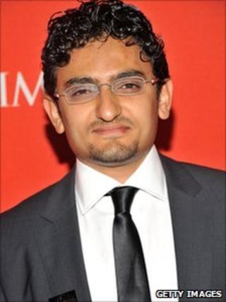 Wael Ghonim in New York on 26 April 2011