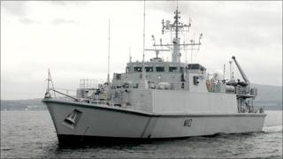 HMS Ramsey (Pic from Royal Navy)