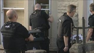 Police raid house in Horfield Bristol