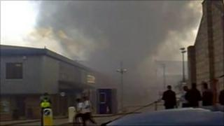 The fire at Poundstretcher