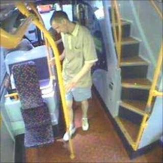 John Paul Williams on bus in Manchester