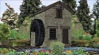 A graphic of Leeds City Council's entry for 2011 Chelsea Flower Show