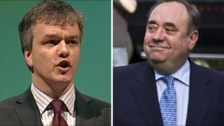 Michael Moore (left) and Alex Salmond