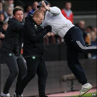 The incident happened during the game between Hearts and Celtic