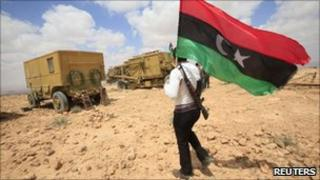 A rebel in Libya's western mountains