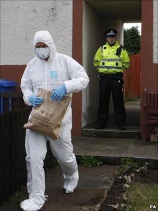 forensics officer at Kilwinning house