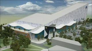 Model of the proposed snow centre