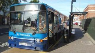 A bus in Gloucester
