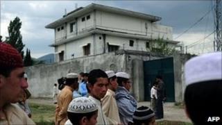Osama Bin Laden's compound in Abbottabad