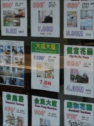 Sign board with home sale posters