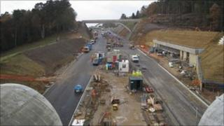 Work on Hindhead tunnel in October 2010