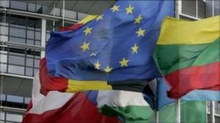 Eurozone nation flags