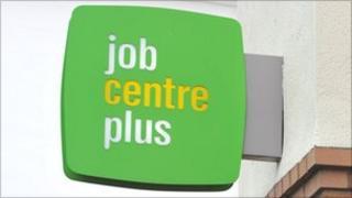 A Jobcentre Plus sign